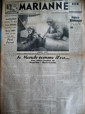 NAPOLEON TRISTAN BERNARD ZEPPELINS MARIE MANCINI DUBOUT JOURNAL MARIANNE 1935