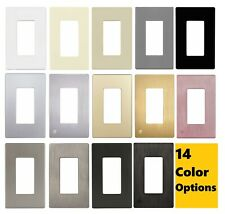 ENERLITES Screwless Decorator Switch / Outlet Wall Plate 1 Gang - 14 Colors