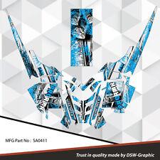 SLED GRAPHICS DECAL STICKER WRAP POLARIS 600 800 PRO-RMK RUSH 2010-2015 SA0411