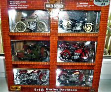 Maisto 1/18 Collection 4 Harley Davidson Motorcycles 6 Harley Bikes