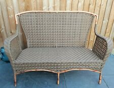 More details for garden bench, metal & plastic wicker effect, collect from south oxfordshire