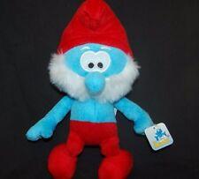 "He Smurfs Papa Smurf Nanco NWT 12"" Plush Stuffed  Animal Lovey Toy Gift Red Blue"