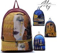 Zaino quadri famosi opere van gogh fantasia dipinto alviero spalla pelle arte