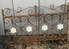 #1 Flowered Victorian Iron Gate Window Garden Fence Architectural Salvage Door