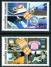 Thailand 1983 World Communications Year set of 2 Mint Unhinged