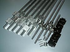 3set linear rail SBR16-500/1000/1500mm+4 ballscrew RM1605+BKBF12 end bearing CNC