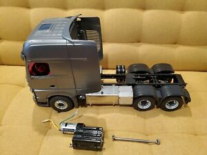 Used Metal 1/14 Tractor Chassis, Mercedes Cabin, Tamiya Transmission, LESU Parts