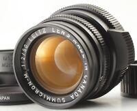 ✈FedEx✈︎ *N MINT W/HOOD* LEICA SUMMICRON-M 50MM F/2 BLACK E39 11819 FROM JAPAN