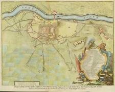 "c1750 SPAIN ""PLAN AND CASTLE OF LERIDA"" Llieda Segre River MILITARY ANTIQUE MAP"