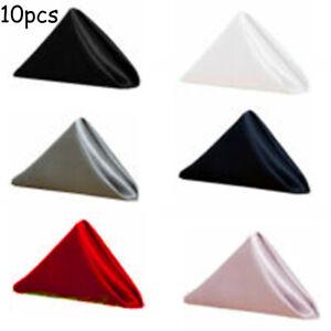 50cm Square Shiny Satin Napkins,Cloth Dinner Table Silk Napkin 6 Optional Color