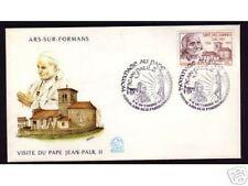 FDC ENVELOPPE VISITE DU PAPE JEAN PAUL II EN FRANCE ARS