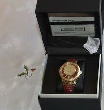 BNIB JBW MAROON Camille DIAMOND 18K yellow gold plated watch