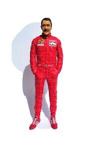 Nigel Mansell 1:12 figure 1990 Ferrari for Tamiya MFH Hiro no 1:43 Tameo BBR
