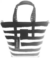 Borsa Gabs Linea Gabsille Shopping Vertical Fantasia Righe Lucrezia Base Nero