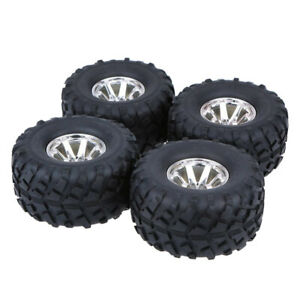 4 Pieces Monster Truck Rubber Tyre Bigfoot Tires For REDCAT Traxxas HSP 1/10 RC