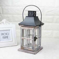 Ancient Retro Wood Tealight Candle Holder RUSTIC Wedding Hanging Ornament #1