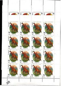 /// 16X SOMALIA 2000 - MNH - GIRAFFE - ANIMALS