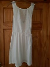 Atmosphere white broderie anglaise beach dress size 14
