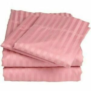 Attached Waterbed Sheets 1000 Count Peach Striped Egyptian Cotton Sheets