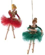 Katherine's Collection Set Of 2 Imperial Guardsman Ballerina Ornaments NEW