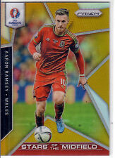 2016 PRIZM UEFA EURO SOCCER AARON RAMSEY GOLD SSP PRIZM PARALLEL /10 * WALES