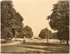 France, Saint-Cloud, vue sur le parc du château  vintage albumen print Tirag