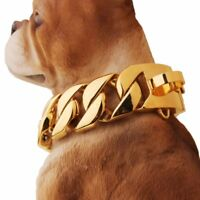 30mm Stainless Steel Silver Gold Curb Bulldog Big Dogs Chain Choker Collar