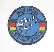 Mein Hobby Fallschirmspringen , Patch Aufnäher Deutschland Fallschirmjäger NEU