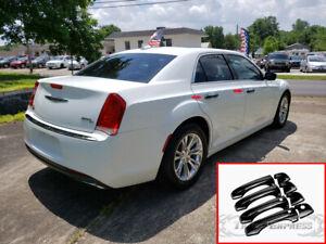 fit:2011-2019 Chrysler 300/300C 4 Door Handle Covers no PSKH w/smart Gloss Black