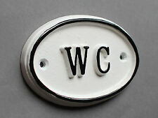 WC Porta Firmare SIGNORE & Gents BAGNO Loo VINTAGE FRANCESE BIANCO bath-09-wh