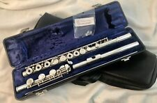 Beautiful Artley 108-0 All Solid Silver Open Hole Flute! Low B, Ready to Play!!