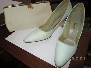 1967 Nannette originals pointy high heel shoes,clutch purse,sz 80S,vintage