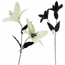 2 Head Stargazer Lily - Artificial Silk Flowers Spray Discounted Stem