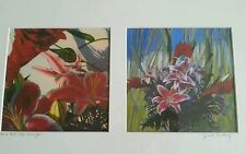 """Janet Century pair of lithographs """"Oriental Lily with Ginger"""""""