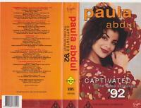 PAULA ABDUL CAPTIVATED THE VIDEO COLLECTION 92 VHS PAL VIDEO~ A RARE FIND
