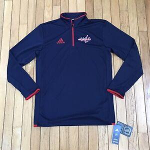 NWT Adidas Washington Capitals Climalite Quarter-Zip Jacket Mens Size Small $75