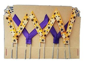 Set of 5 Handmade Decorative Paper Clip Planner Book Marks - SPIDERS