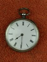 Antique .935 Swiss Silver Pocket Watch C1850 - 1900