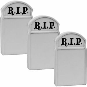 Set of 3 Plastic Toy Tombstones for 6 Inch Action Figures