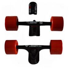 Easy People Longboards Black Truck set Red wheels,Spacer,ABEC-7