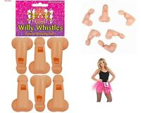 12 Willy Whistles Blowing Penis Plastic Fun Hen & Stag Adult Night-Out Party