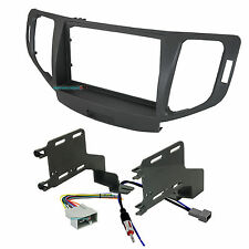 Aftermarket Double-Din Radio Install Dash Kit for TSX w/ Wires, Car Stereo Mount
