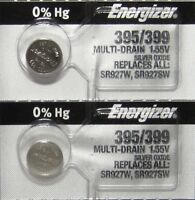 2 Pk 395 Energizer watch battery SR927W 395/399 SR927SW