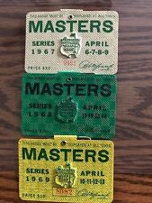 1967 1968 1969 USED MASTERS GOLF BADGES~COLLECTORS ITEM~RARE TICKET~COLLECTION