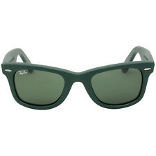 Ray-Ban Wayfarer 50 mm Green Leather Frame Sunglasses RB2140QM