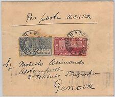 53931  - ITALIA REGNO - Storia Postale:  Sassone Posta Aerea 3 su BUSTA 1926