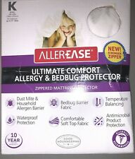 AllerEase King Ultimate Mattress Protector, Allergy Bedbug Waterproof Protection