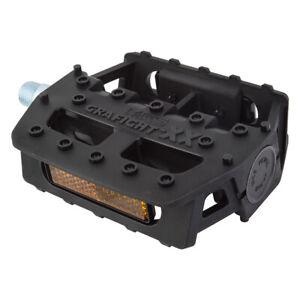 "MKS GRAFIGHT-XX 9/16"" Platform Composite Pedals BLACK"