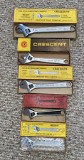 Lot 5 Vintage Adjustable Crescent Wrenches 6,8 & 10� - Rare And Hard To Find!