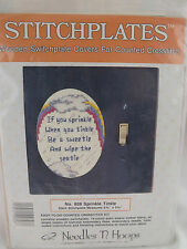 """Stitchplates Counted Cross Stitch Kit Switchplate Cover """"Sprinkle Tinkle""""  New"""